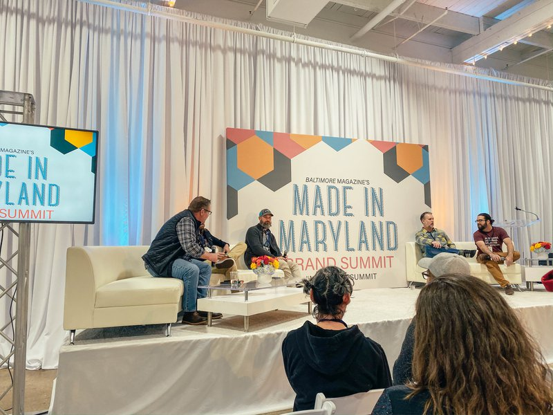 Maryland's local brewery panel doing a Q & A sessions during the 2019 Made in Maryland Brand Summit