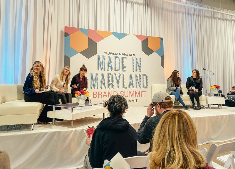 Social media marketing panelists during the 2019 Made in Maryland Brand Summit