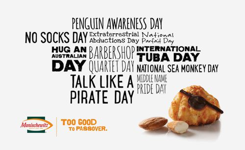 Manischewitz coconut macaroons social media campaign titled Too good to passover for Penguin Awareness Day