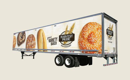 H&S Bakery Harvest Pride truck wrap design by Harvey Agency
