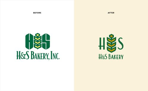 H&S Bakery logo redesign by Harvey Agency